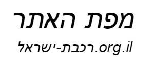 רכבת ישראל מפת האתר